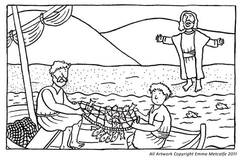 coloring pages jesus calling his disciples free coloring pages of calling of the disciples