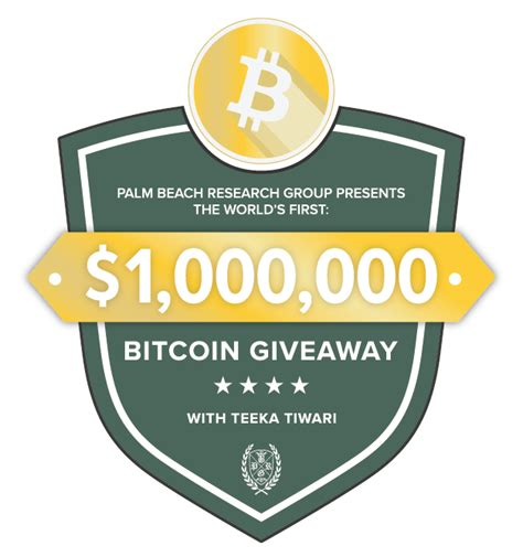Bitcoin Giveaway - 1 million dollar bitcoin giveaway by palm beach group