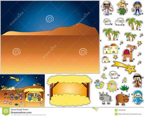 nativity cut  paste royalty  stock image image