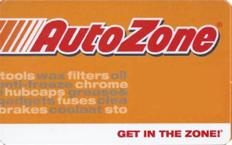 Autozone Gift Cards - retail