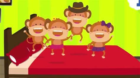 the bed song five little monkeys jumping on the bed nursery rhymes