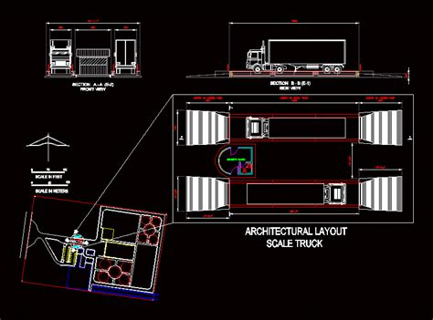 truck scale view dwg detail  autocad designs cad