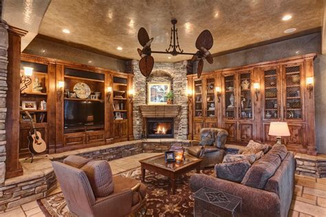 How To Build Rustic Cabinets Splendid Built In Cabinets Around Fireplace With