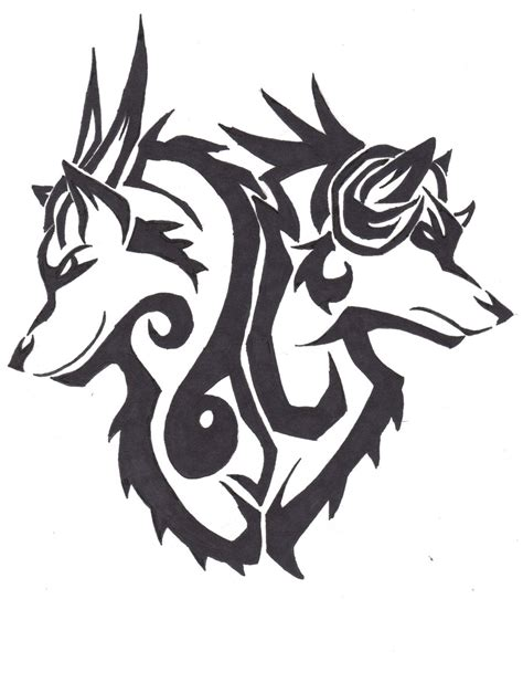 tattoo animal drawings rage and despair tribal tattoo design by wolfhappy on