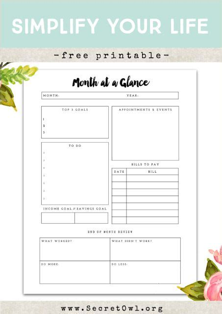 Template Happy Diy Cards Insert by Free Printable Month At A Glance And Free Printable