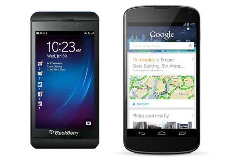 blackberry z10 vs best android
