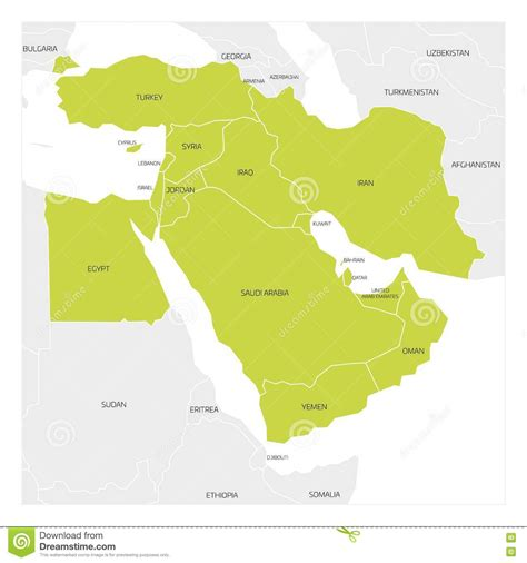 mid east region map illustrations vector stock images 319