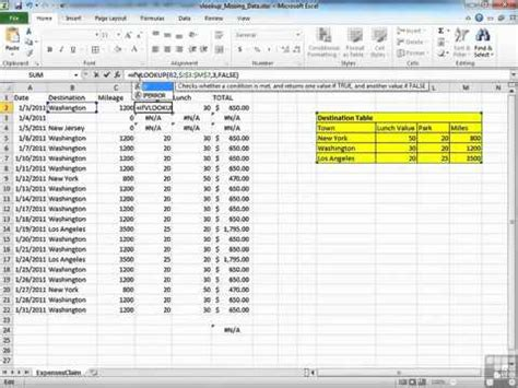 excel 2010 full tutorial youtube how to find missing data in a lookup excel 2010 video
