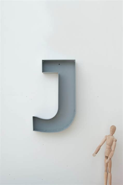 Wall Decor Letters by J Sign Letter Wall Decor Metal Letters For Home Styling