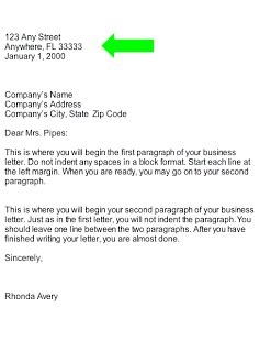 Credit And Collection Business Letter Collection Business Letter Heading Part Of Business Letter