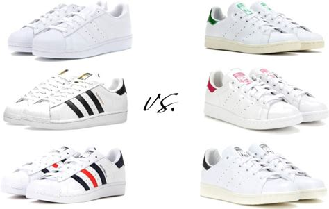 Transitional Style by Adidas Sneakers Superstar Vs Stan Smith