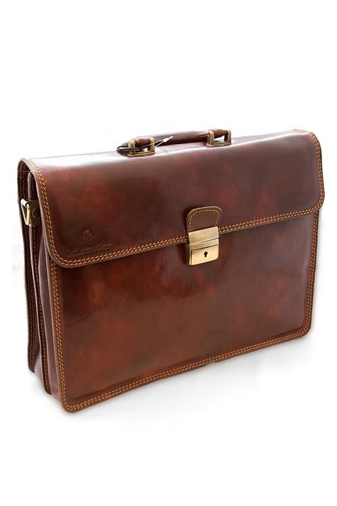 Italian Leather by Brown Italian Leather Briefcase Accessories Leather Goods