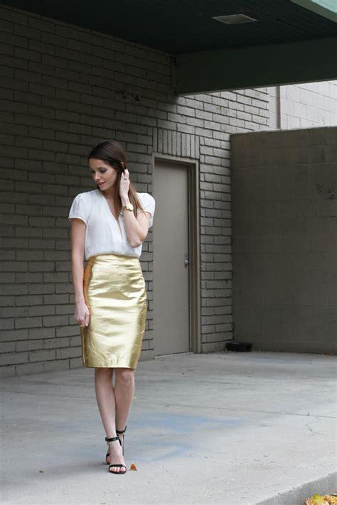 diy metallic pencil skirt