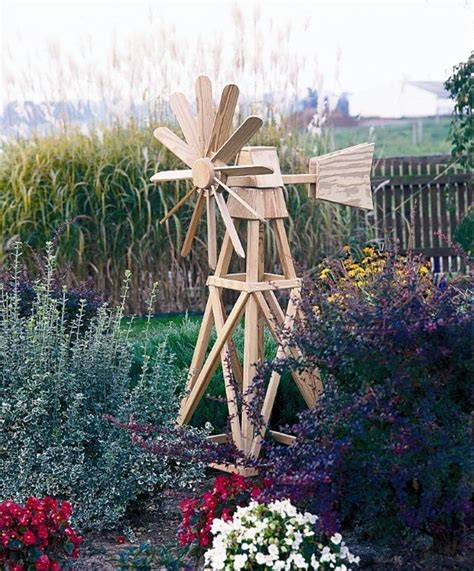 amish pine outdoor garden american windmill wooden