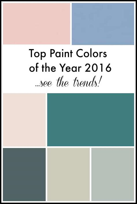 trendy paint colors top paint colors of the year 2016 setting for four