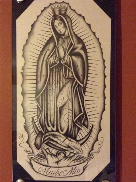 virgen de guadalupe tattoos designs virgen de guadalupe drawing by bonilladrawings on etsy