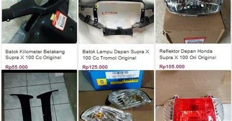 Sparepart Honda Supra X 100cc daftar harga sparepart honda supra x 100cc