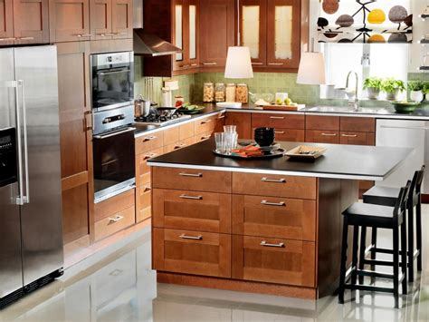 medium brown kitchen cabinets smart budget hgtv