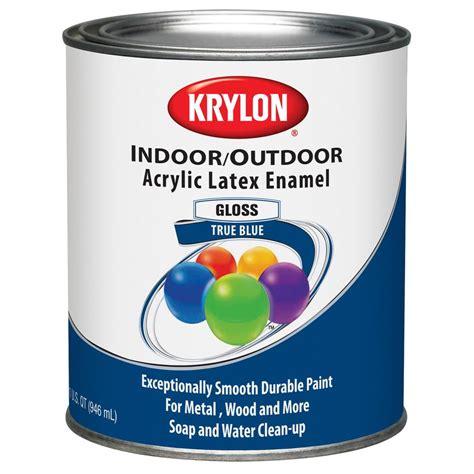 enamel exterior paint shop krylon covermaxx true blue gloss enamel