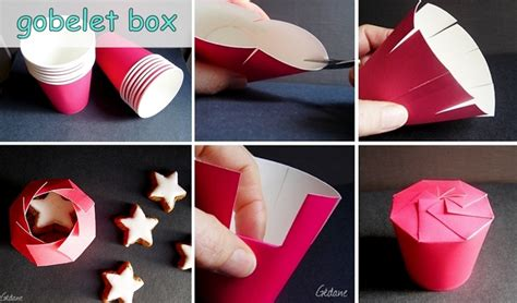 How To Make Box Of Paper - gobelet box with paper cup gift idea
