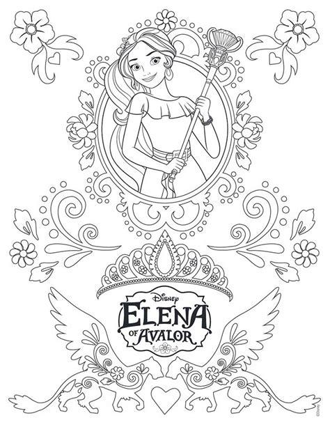 coloring pages princess elena elena de avalor dibujos colorear dibujalandia