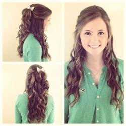 curly hairstyles ideas for graduation day hairjos