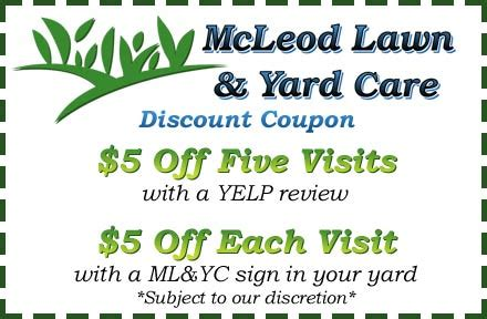 printable coupons yard house mcleod lawn and yard care tracy california