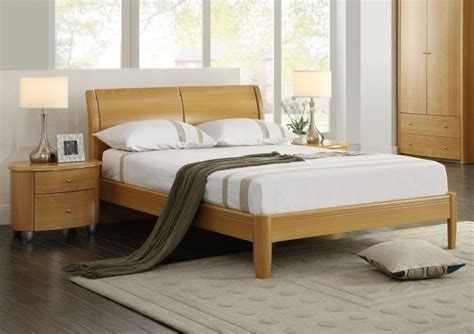 Beech Bed Frame Birlea Aztec Beech 4ft6 Wooden Bed Frame By Birlea