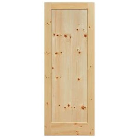 masonite 40 in x 84 in knotty pine 1 panel shaker flat