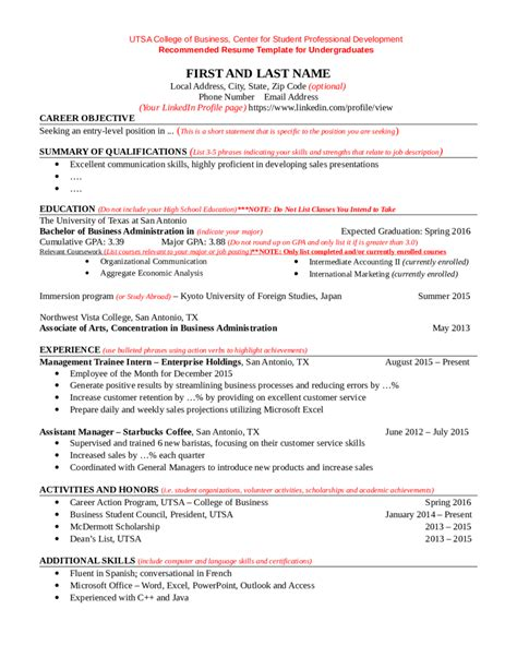 resume objective college student template doctor excuse academic resume template note for
