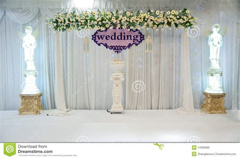 Wedding Clip Padang by Traditional Marriage Stage Royalty Free Stock Photo