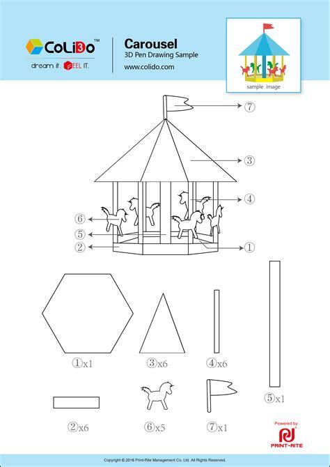 3d printer pen stencils colido 3d pen stencil carousel jpg jpeg grafik 2484
