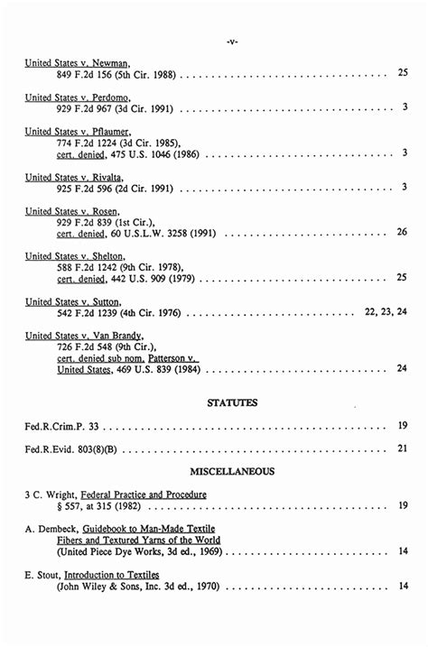 appellate brief table of authorities exle 4th cir reply brief of appellant nov 1991 jeffrey