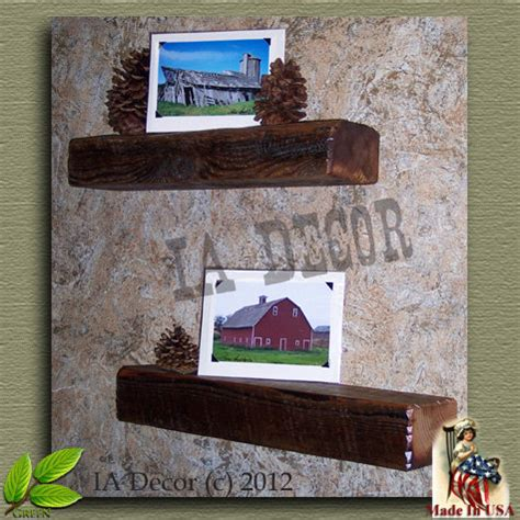 beam shelf reclaimed wood floating shelf barnwood beam
