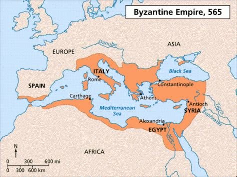 The Byzantine Empire Russia And Eastern Europe Outline Map by Horsing Around At Home The Byzantine Empire