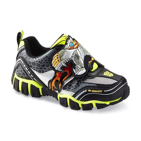 transformers sneakers transformers boy s grimlock black green light up athletic