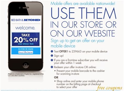 bed bath and beyond coupons 2014 20 bed bath and beyond coupon