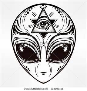 alien face icon halloween conspiracy theory sci fi religion spirituality occultism tattoo
