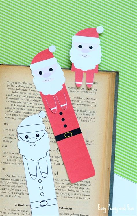 printable bookmarks to make printable santa bookmarks christmas printables easy
