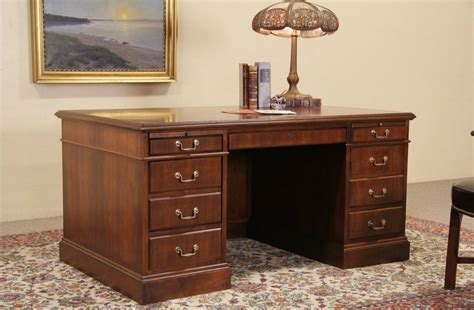 SOLD   Jofco Walnut Traditional Vintage Executive Desk