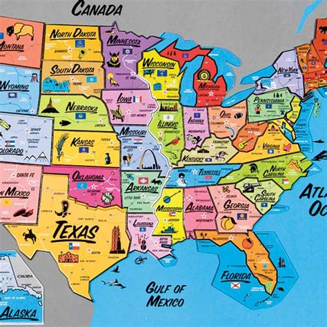 map usa puzzles free usa magnetic puzzle map view 3