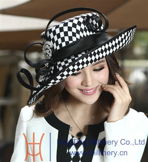 free shipping sale hats for church winter satin