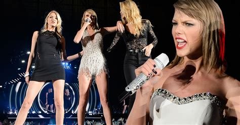 ashlee simpson union stage taylor swift brings her model bffs on stage on her 1989