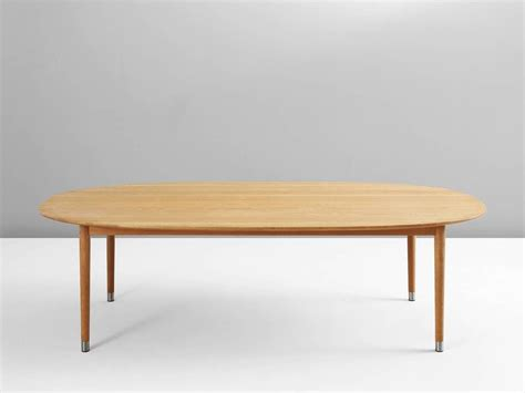 Oak Oval Dining Table Large Oval Dining Table In Blond Oak For Sale At 1stdibs
