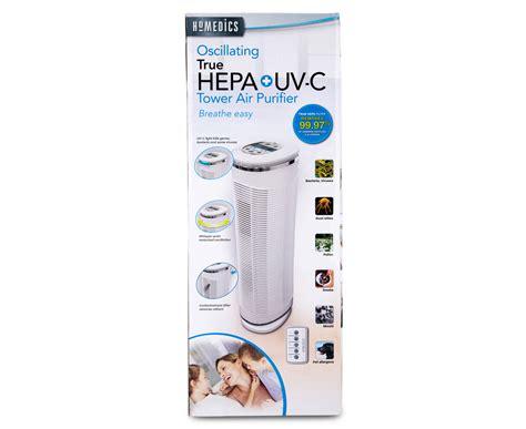 homedics true hepa uv c tower air purifier ebay