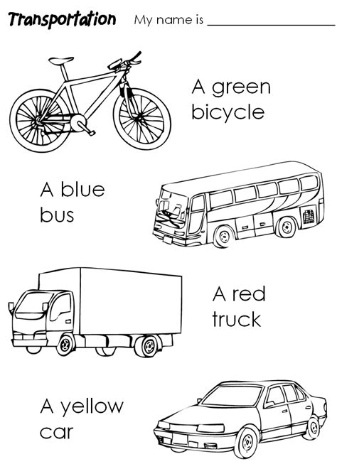 preschool coloring pages transportation transport colouring pages 05 pinlerim pinterest