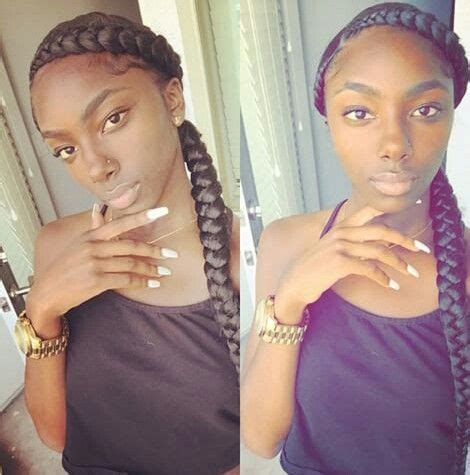 2 big cornrow hairstly two big cornrows sew in hairstyles pinterest big