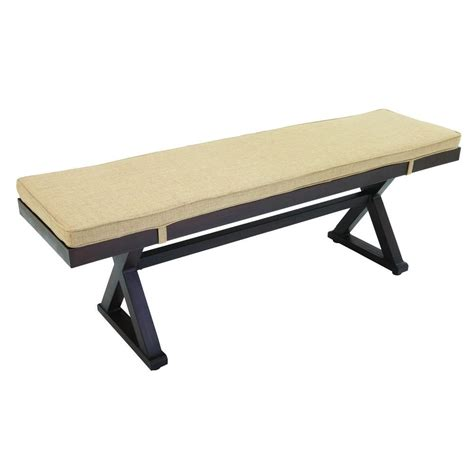 picnic bench cushion hton bay woodbury patio bench with textured sand