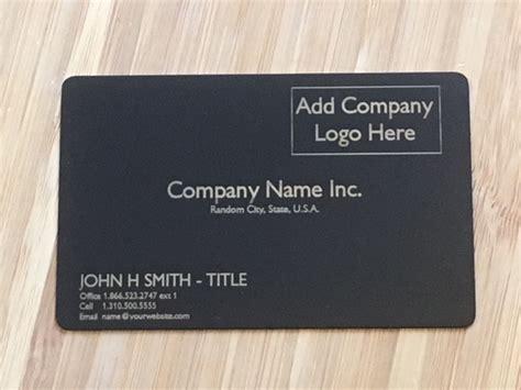 matte black business card template custom metal business cards