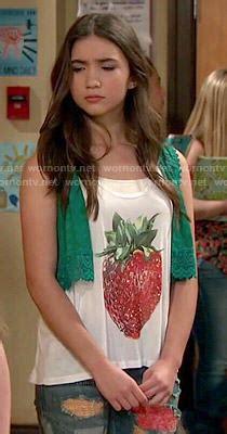 Carol Sabrina Flare Dress wornontv riley s strawberry top and patchwork on